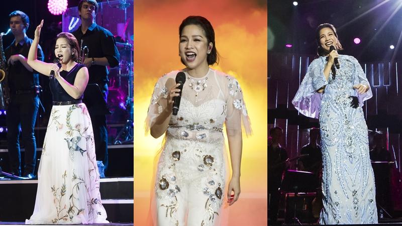 Diva Mỹ Linh mặc các thiết kế của NTK Tùng Vũ chinh phục khán giả thủ đô trong hai đêm nhạc