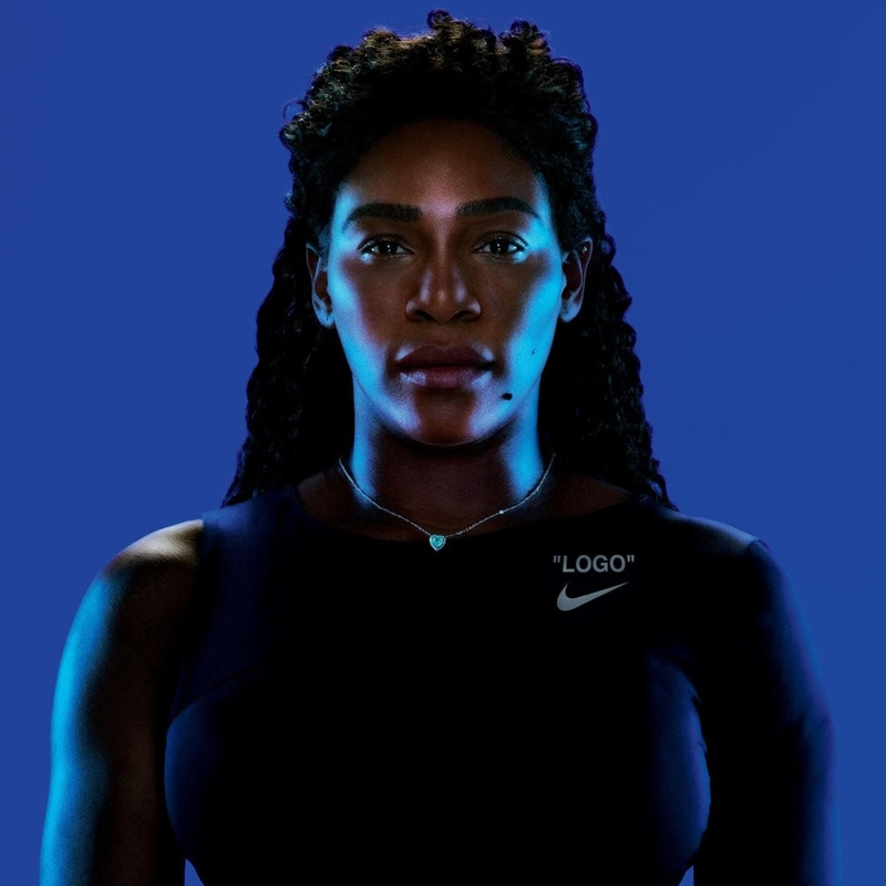 Serena Williams trong thiết kế thuộc BST Nike x Off-White.