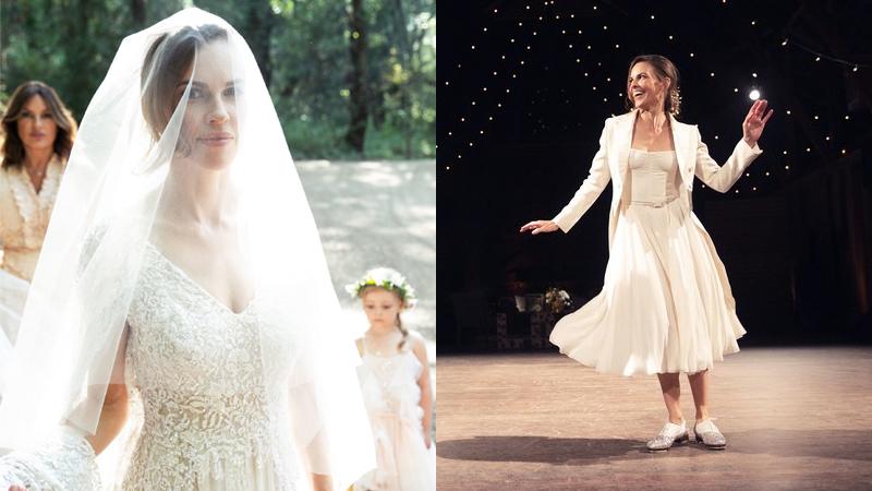 Hilary Swank rạng ngời trong hôn lễ với thiết kế Haute Couture