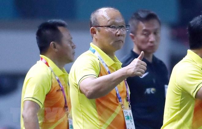HLV Olympic Hàn Quốc ca ngợi người đồng nghiệp Park Hang-seo