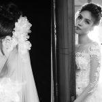 Lan Khuêdịu dàng và e ấptrong váy cưới trước ngày lên xe hoa