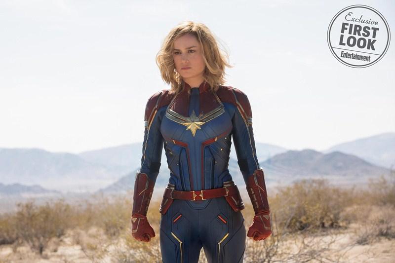 Nữ diễn viên Brie Larson trong tạo hình siêu anh hùng mạnh nhất của vũ trụ điện ảnh Marvel.