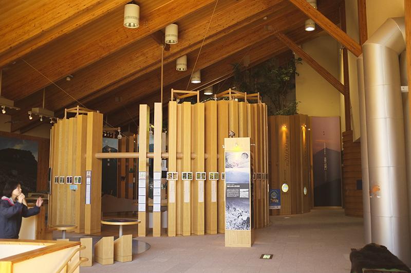 Phòng trưng bày lịch sử địa lý của hồ Shikotsu.