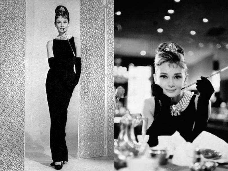 Hình ảnh ghi dấu ấn mạnh mẽ trong lịch sử thời trang nhiều thập kỉ qua, khi nữ minh tinh Audrey Hepburn xuất hiện vô cùng sang chảnh với chiếc đầm đen ôm dáng và đôi găng tay quý phái đến từ thương hiệu Givenchy.