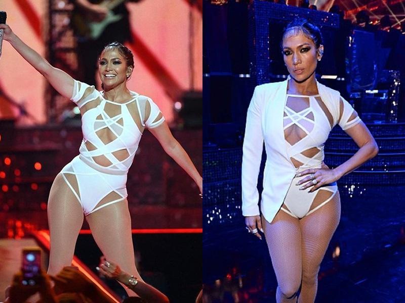 Ngay cả trang phục biểu diễn, Jennifer Lopez cũng ưu ái chọn tác phẩm của NTK gốc Việt này.