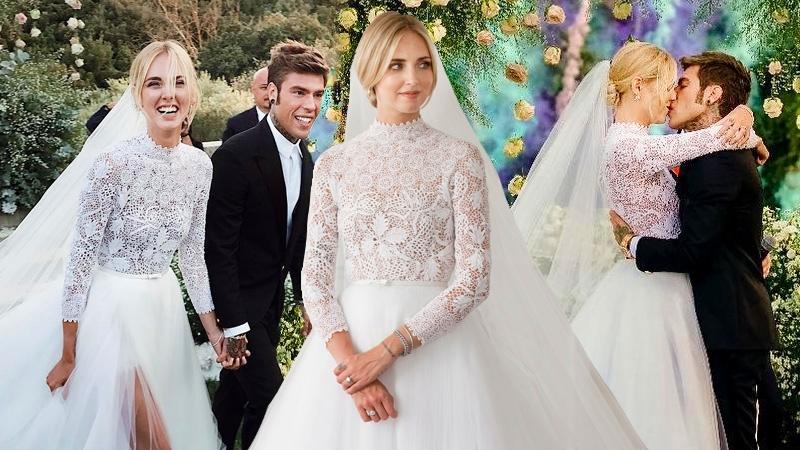 Đệ nhất fashionista Ý – Chiara Ferragni diện váy cưới lộng lẫy của Dior trong hôn lễ thế kỷ