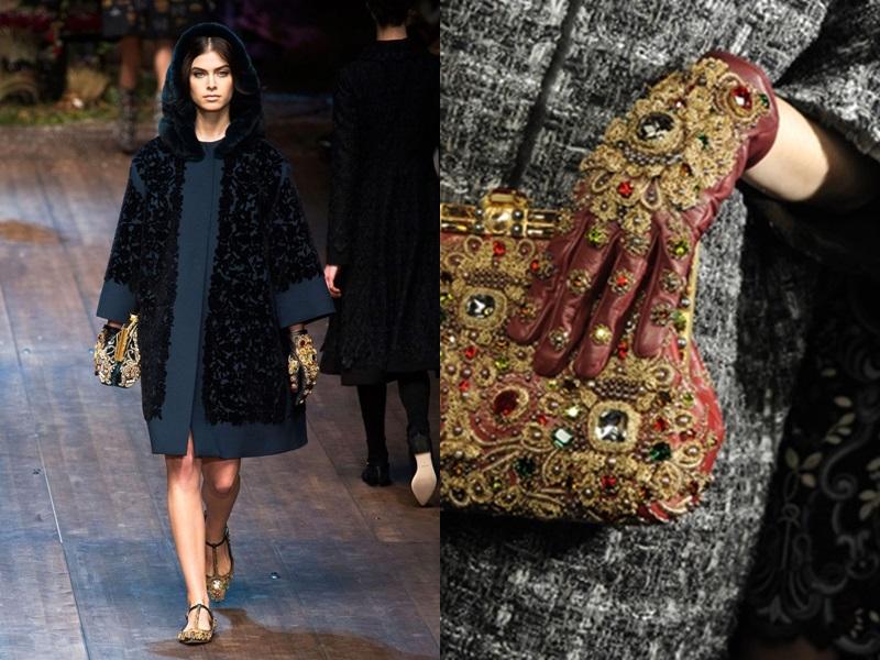 Dolce & Gabbana đậm chất vương giả cùng thiết kế nạm đính pha lê tinh xảo.