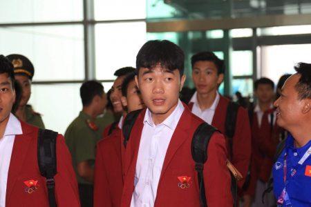 Thầy trò HLV Park Hang Seo đã có mặt tại SVĐ Mỹ Đình dự lễ vinh danh