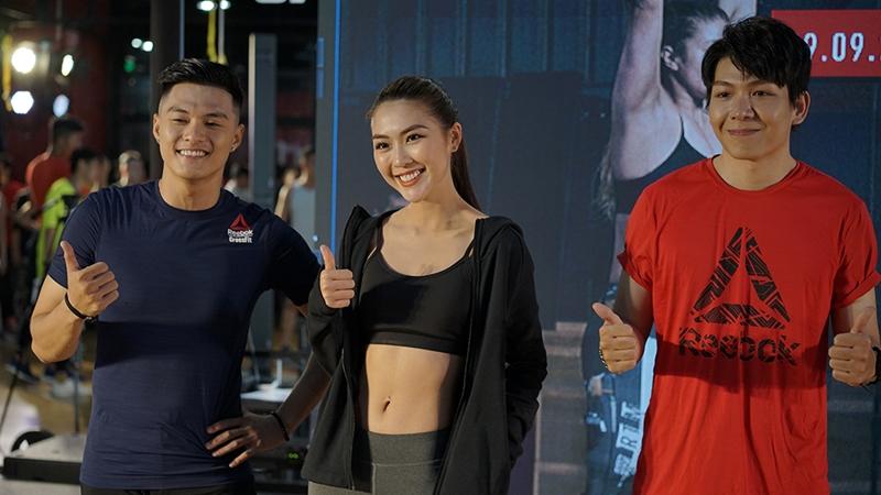 """Hoa hậu Tường Linh, Lâm Vinh Hải, Kelvin Duy Khánh so tài tại """"Reebok Fitness Playground 2018"""""""