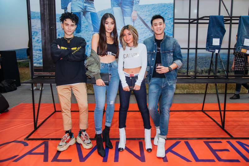 Những vị khách mời đặc biệt trong buổi ra mắt cửa hàng pop-up của Calvin Klein Jeans (từ trái qua: Decao, Thảo Nhi Lê, Louis Hà và Huyme).
