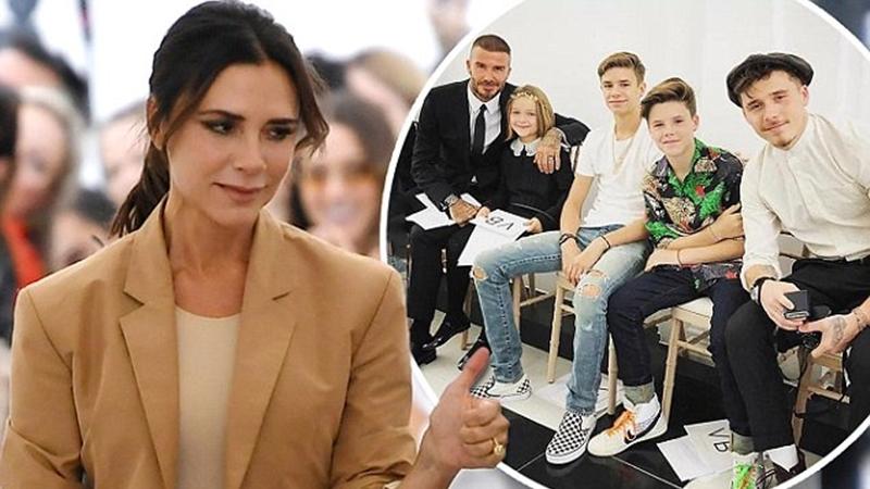 Đại gia đình Beckham trở thành tâm điểm tại Tuần lễ thời trang London