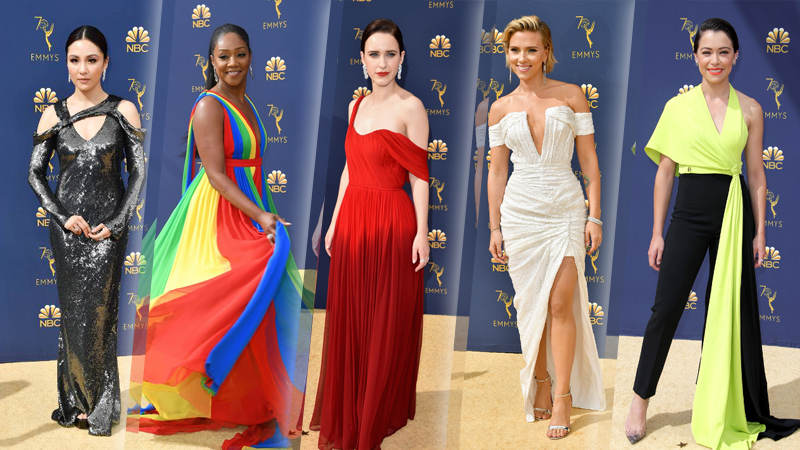 Dàn sao nữ diện trang phục cắt xẻ táo bạo trên thảm đỏ Emmy 2018