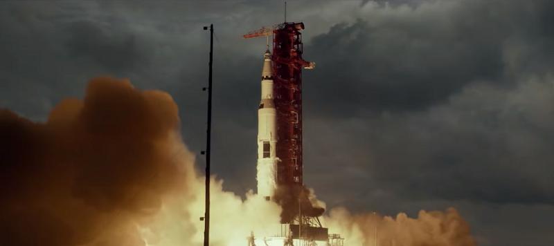 Hình ảnh tàu Apollo 11 được phóng lên vũ trụ.