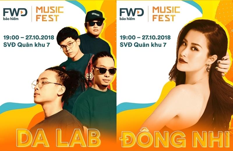 Những gương mặt đình đám nhất V-Pop sẽ có mặt trong sự kiện Lễ hội âm nhạc FWD tối ngày 27/09
