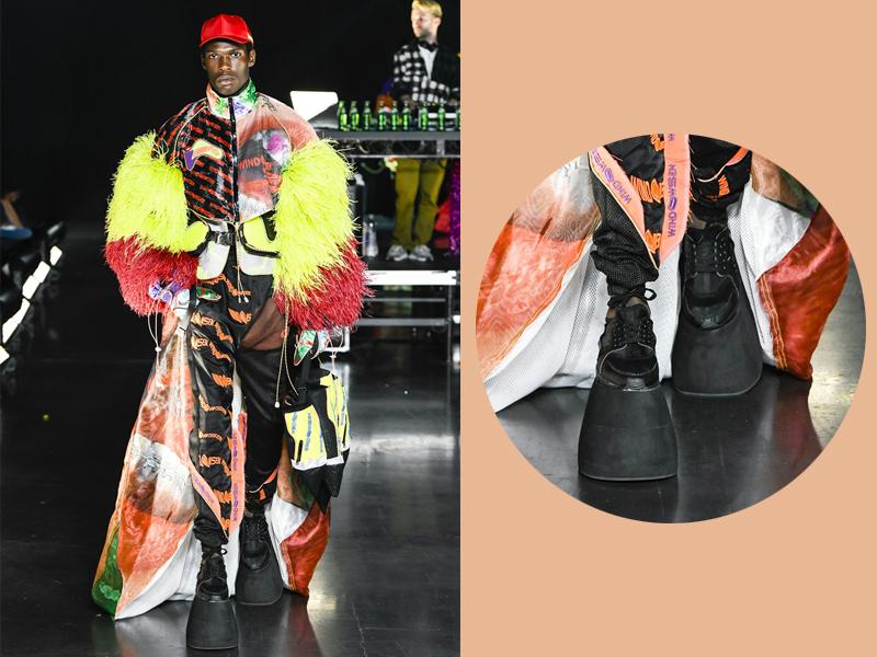 Đôi giày như móng ngựa xuất hiện trong show diễn của VFiles.