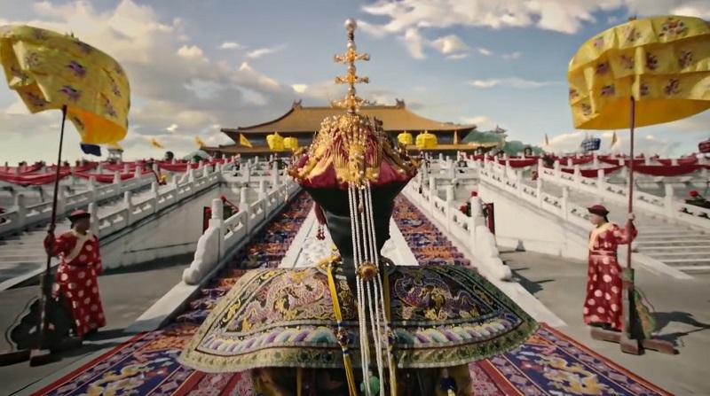 Theo nghi lễ, Hoàng hậu được rước từ Đại Thanh môn, qua Thiên An môn cho đến hậu cung.