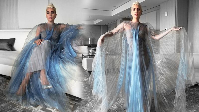 """Hậu """"càn quét"""" thảm đỏ, Lady Gaga lại gây hoa mắt với váy """"chuyển động"""""""