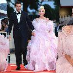 Lady Gaga bay bổng trong đầm couture Valentino sánh bước cùng Bradley Cooper lịch lãm với suit Gucci