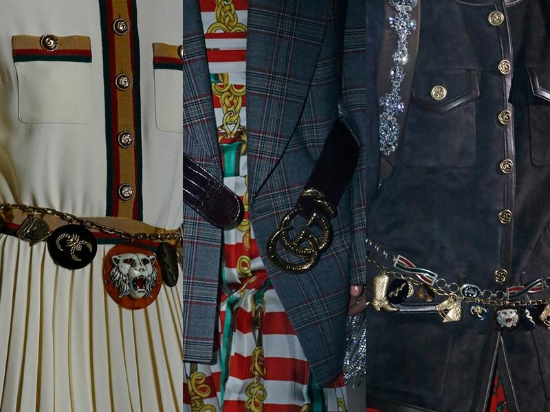 Những chiếc thắt lưng trong BST Xuân Hè 2019 của Gucci là những món phụ kiện hoàn hảo để tạo điểm nhấn cho tổng thể trang phục.