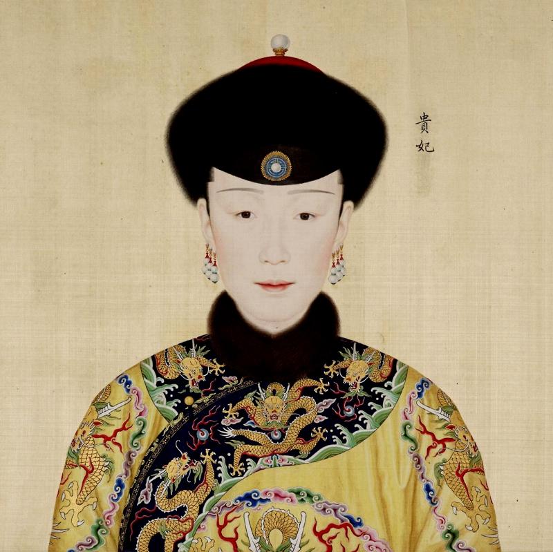 Tranh vẽ Tuệ Hiền Hoàng Quý phi Cao Giai thị khi bà còn là Quý phi.