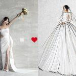 Hé lộ bộ váy cưới thứ 3 của Nhã Phương trước giờ G
