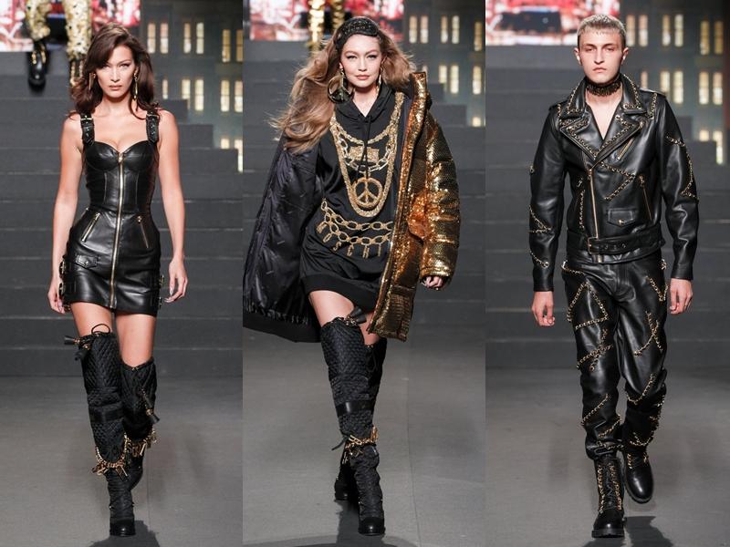 3 chị em nhà Hadid gồm (từ trái qua) Bella, Gigi và Anwar một lần nữa có cơ hội cùng đứng chung sàn diễn. Trong đó, Gigi Hadid là chân dài được chọn làm gương mặt đại diện cho chiến dịch quảng bá BST Moschino [tv] H&M.