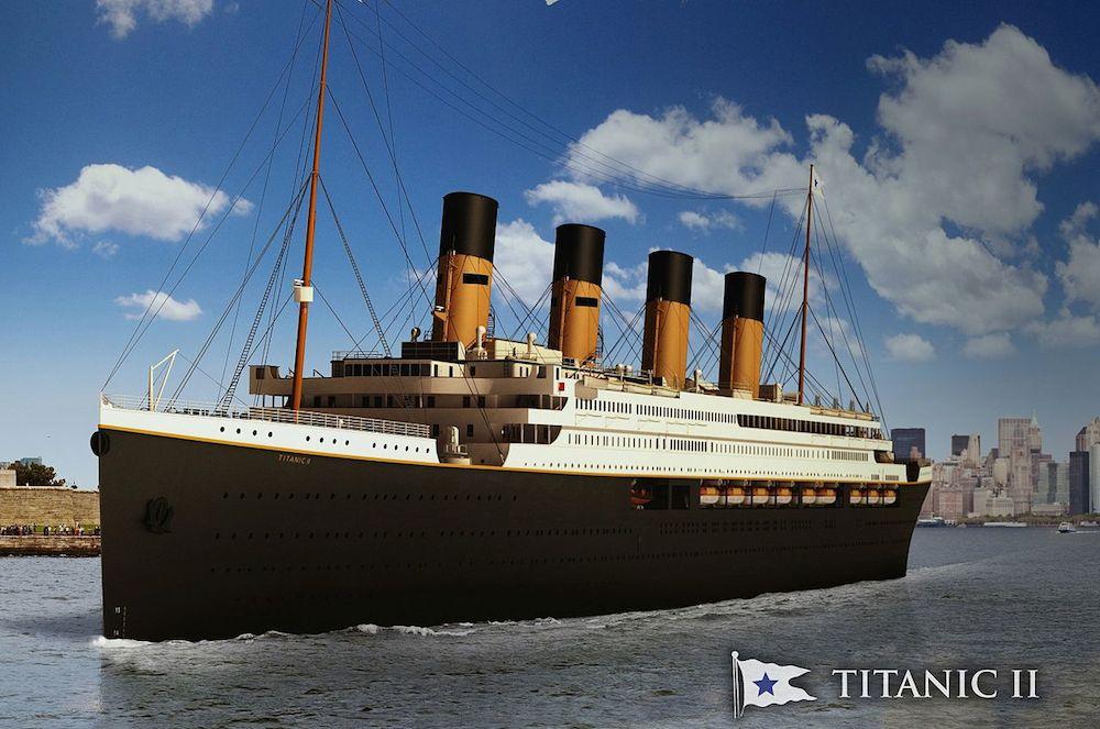 Ảnh mô phỏng của mẫu tàu Titanic II.