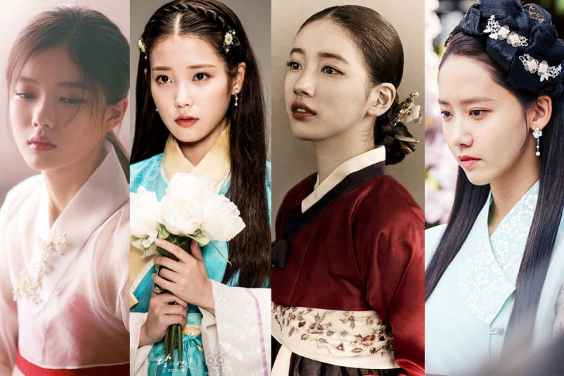 Bên cạnh đó Kim Yoo Jung , Suzy, Yoona, IU là những bóng hồng làm khán giả điêu đứng với hình ảnh cổ trang đầy ngọt ngào.