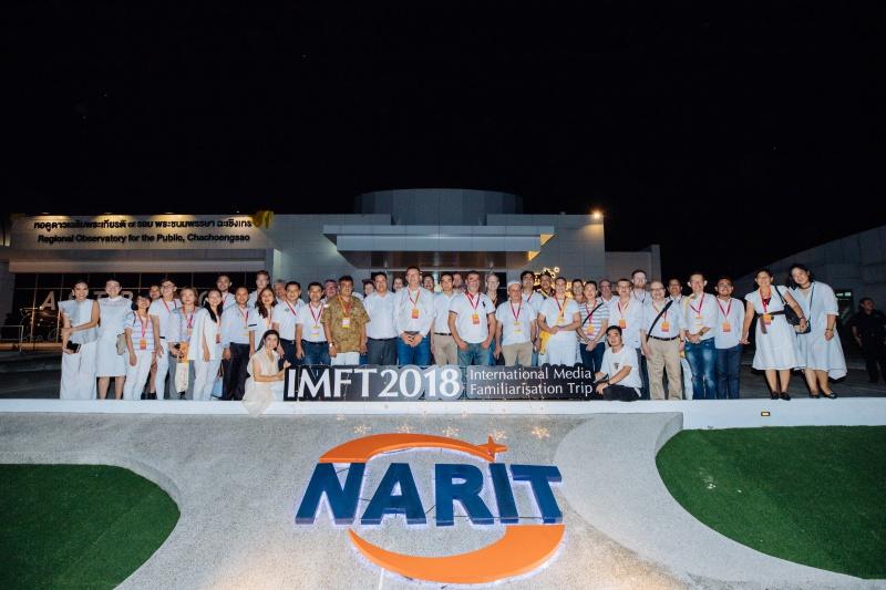 Đoàn phóng viên quốc tế tham quan Viện nghiên cứu thiên văn quốc gia Thái Lan NARIT - chi nhánh tại tỉnh Chachoengsao