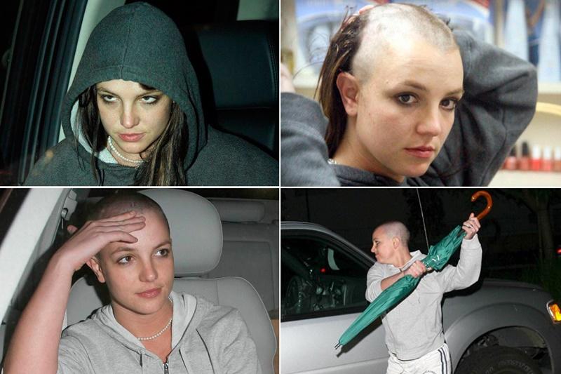 """Tháng 2/2007, Britney khiến người hâm một bị """"sốc"""" khi hình ảnh cô tự tay cạo đầu và tấn công paparazzi lan truyền khắp nơi. Đây là giai đoạn đỉnh điểm khủng hoảng của nữ ca sĩ khi quá nhiều biến cố xảy ra ảnh hưởng đến tâm lý của Britney khiến cô có những hành động thiếu kiểm soát. Lúc này đây người hâm mộ xót thương cho nữ ca sĩ hàng đầu thế giới đang trượt dài trong những rắc rối đời tư của chính mình."""