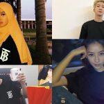 Chi Pu và loạt fashionista châu Á hòa mình cùng xu hướng áo thun đen in logo mới của Burberry