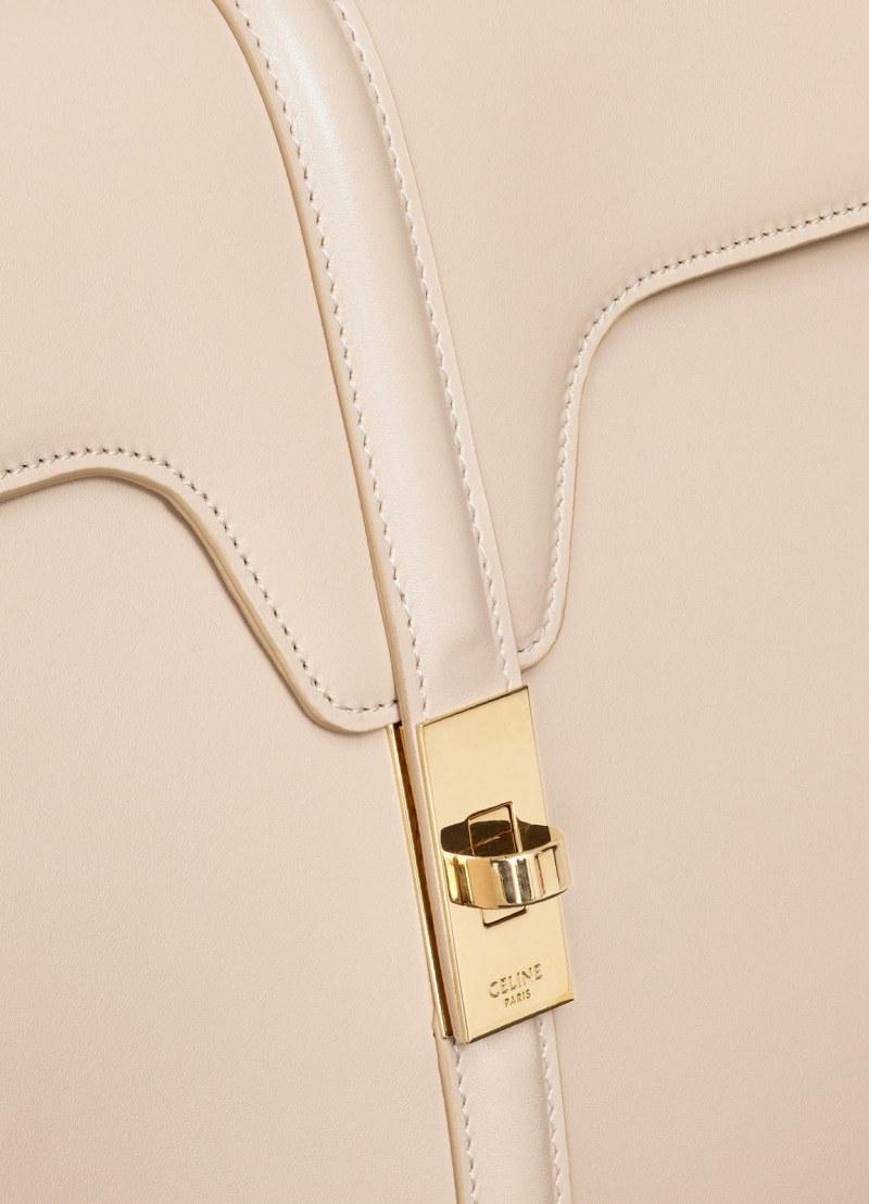 Sự tỉ mỉ trong từng chi tiết cùng với chất liệu da cao cấp mang đến vẻ sang trọng kinh điển cho túi xách 16 của Celine.