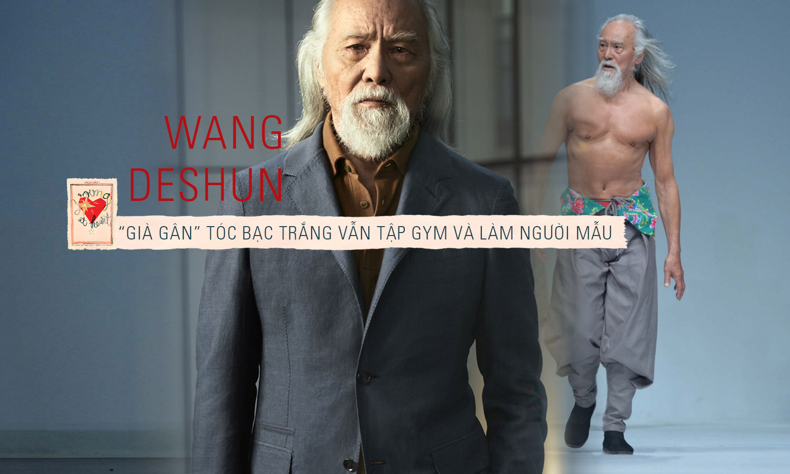 Lão ông Wang Deshun: 80 tuổi vẫn tập gym, ăn vận sành điệu và làm người mẫu
