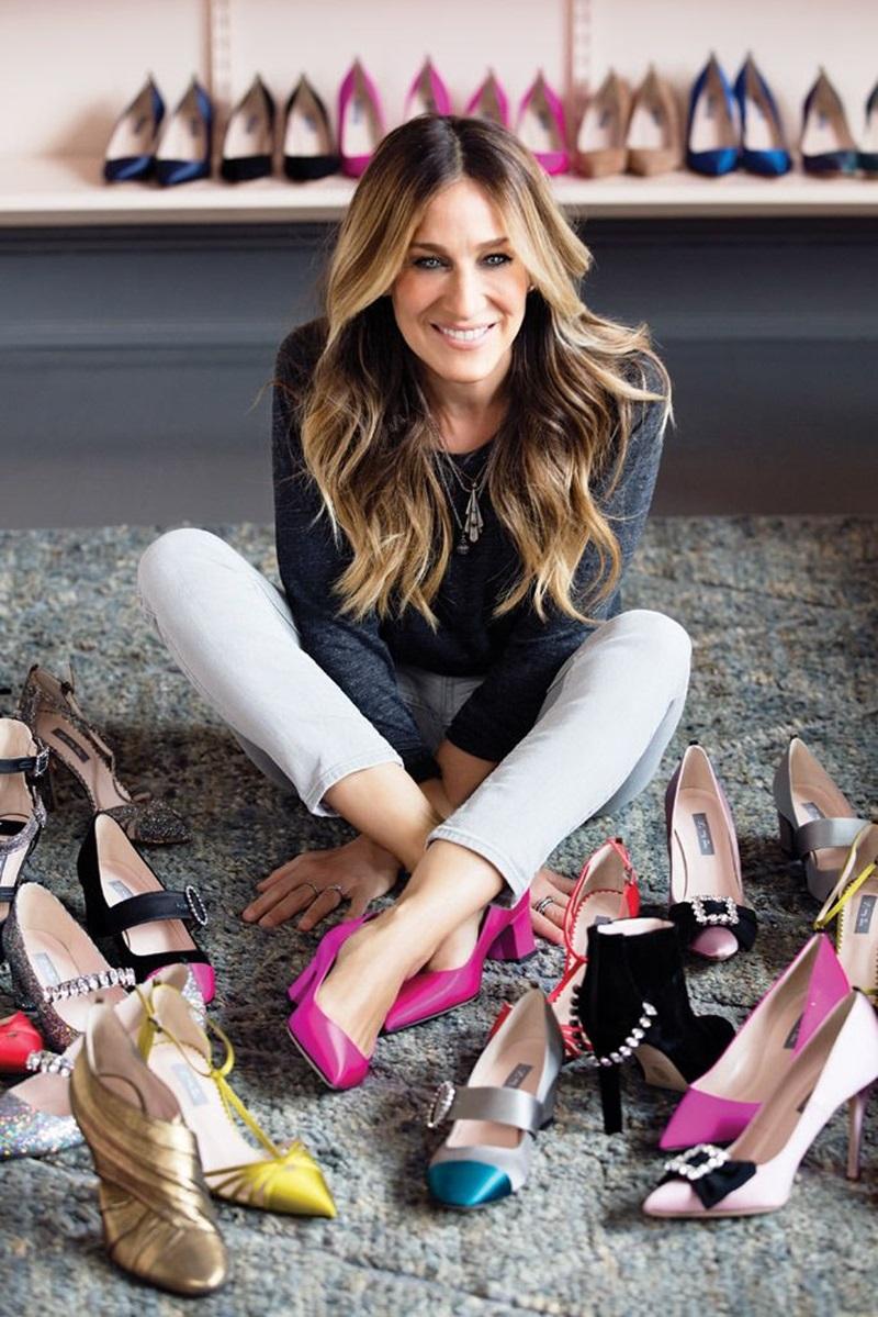 """Sarah thừa nhận rằng điểm chung của cô và vai diễn trong """"Sex and the City"""" chính là niềm đam mê đặc biệt với giày cao gót."""