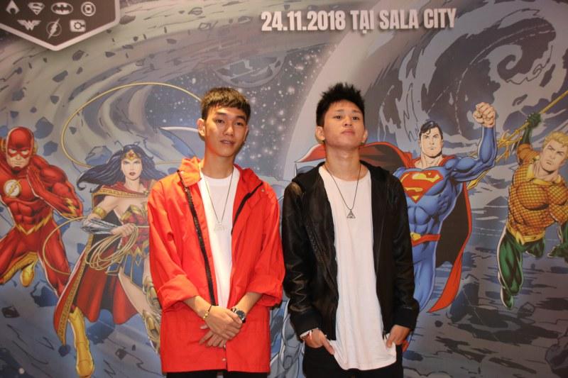 Producer Masew, rapper B Ray tham dự họp báo ra mắt Justice League Night Run 2018 lần đầu tiên được tổ chức tại Việt Nam.