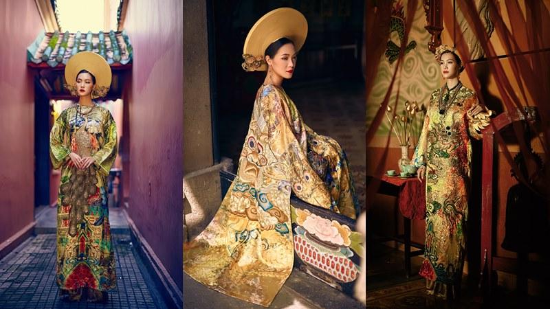 Hoa hậu Thùy Dung quyền quý trong những thiết kế mang cảm hứng trang phục cung đình Huế