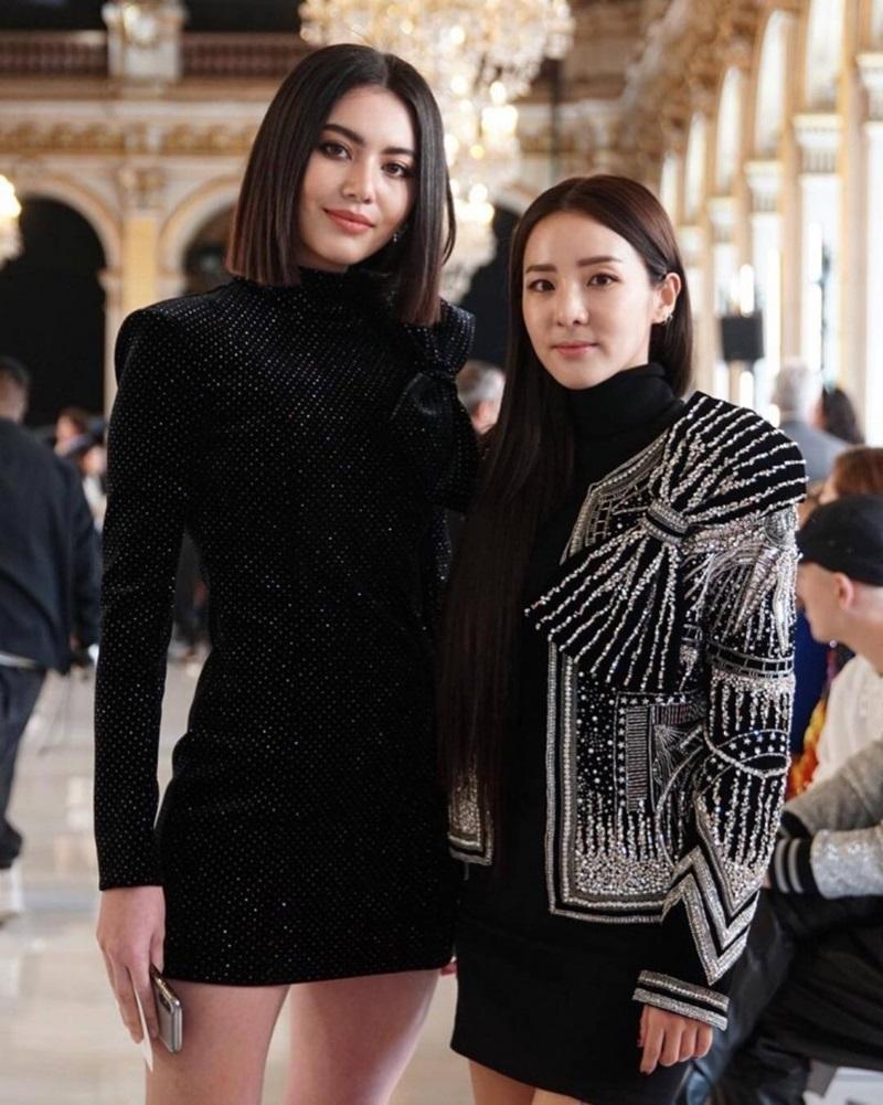 Dàn khách mời của Balmain còn có 2 mỹ nhân đến từ Thái Lan và Hàn Quốc là Davika Hoorne và diễn viên Sandara Park (phải).