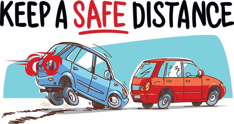 Hãy luôn nhớ giữ khoảng cách an toàn với xe phía trước