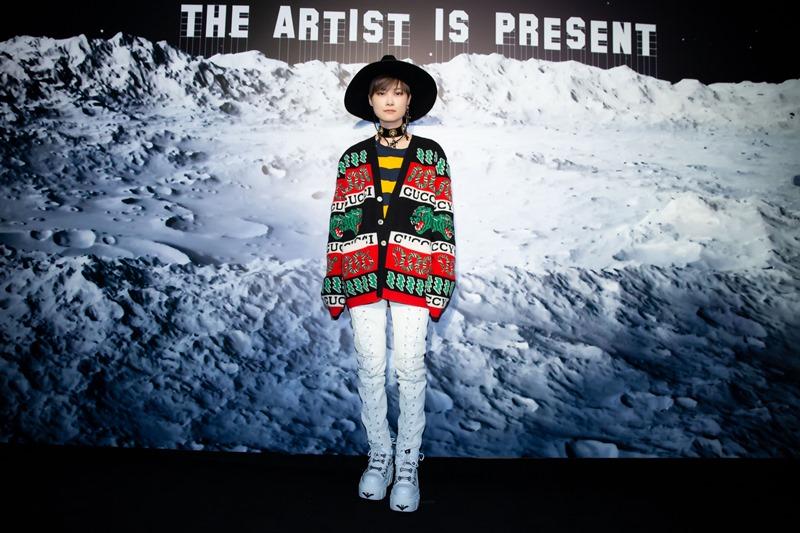 Ca sĩ Lý Vũ Xuân - một gương mặt thường xuyên xuaất hiện tại các sự kiện của Gucci.