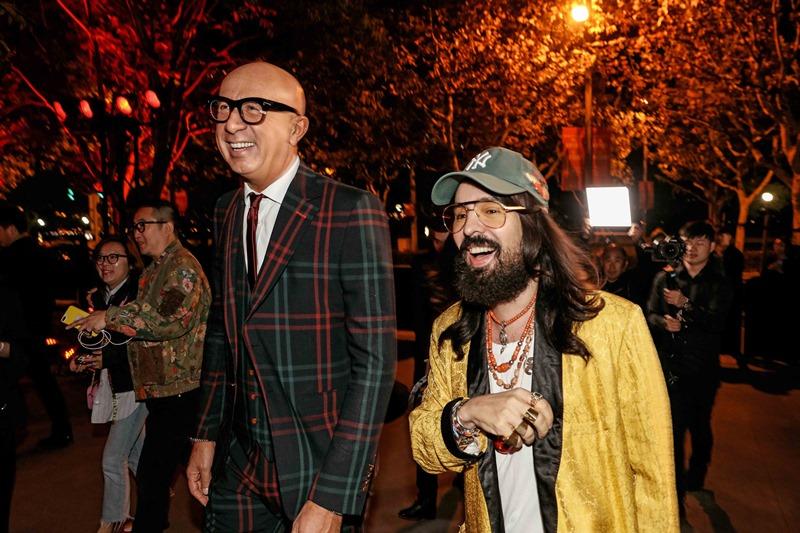 Sự kiện khai mạc có CEO của Gucci Marco Bizzarri (trái) cùng Giám đốc Sáng tạo Alessandro Michele tham dự.
