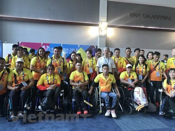 Asian Para Games: Đoàn thể thao người khuyết tật Việt Nam đến Jakarta