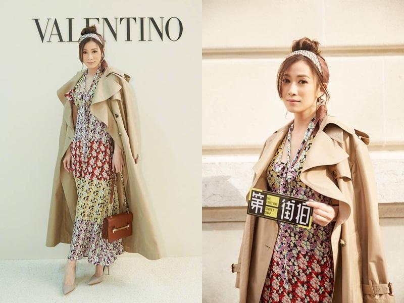 """Ngoài show diễn của Shiatzy Chen, """"Nhàn Phi"""" Xa Thi Mạn còn là khách mời của 2 nhà mốt đình đám khác khi tham dự Tuần lễ Thời trang tại Paris lần này, đó là Valentino..."""