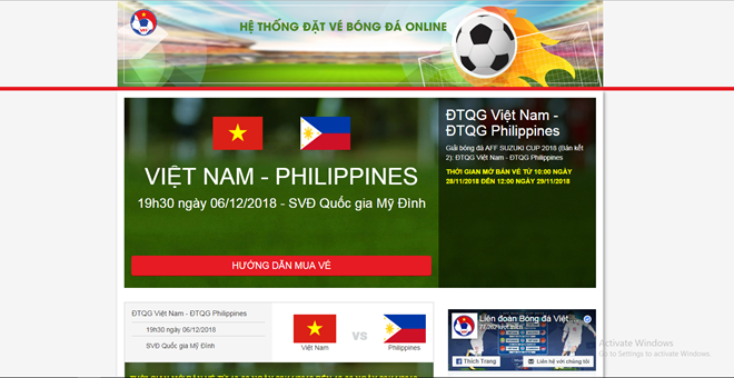 Bưu điện Việt Nam sẽ chuyển phát vé trận Việt Nam – Philippines