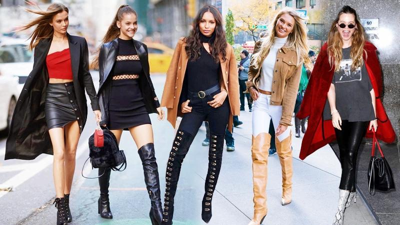 """Street style cực """"chất"""" của dàn thiên thần Victoria's Secret trước thềm show diễn nội y lớn nhất hành tinh"""