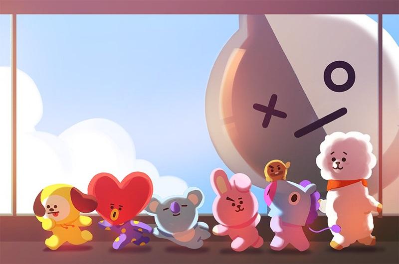 BTS cũng là những nghệ sĩ đầu tiên mà Line Friends lựa chọn để kết hợp cho ra mắt bộ sticker mới.
