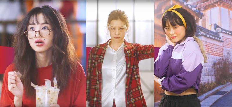 """(Từ trái qua) Jun Vũ, Lilly Nguyễn, Misthy """"xấu lạ"""" trong đoạn clip mới."""
