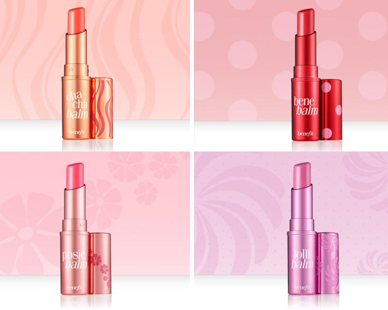 Bảng màu Benefit Hydrating Tinted Lip Balm khá hạn chế, chỉ có tông đỏ, cam, hồng, cam đào thường gặp