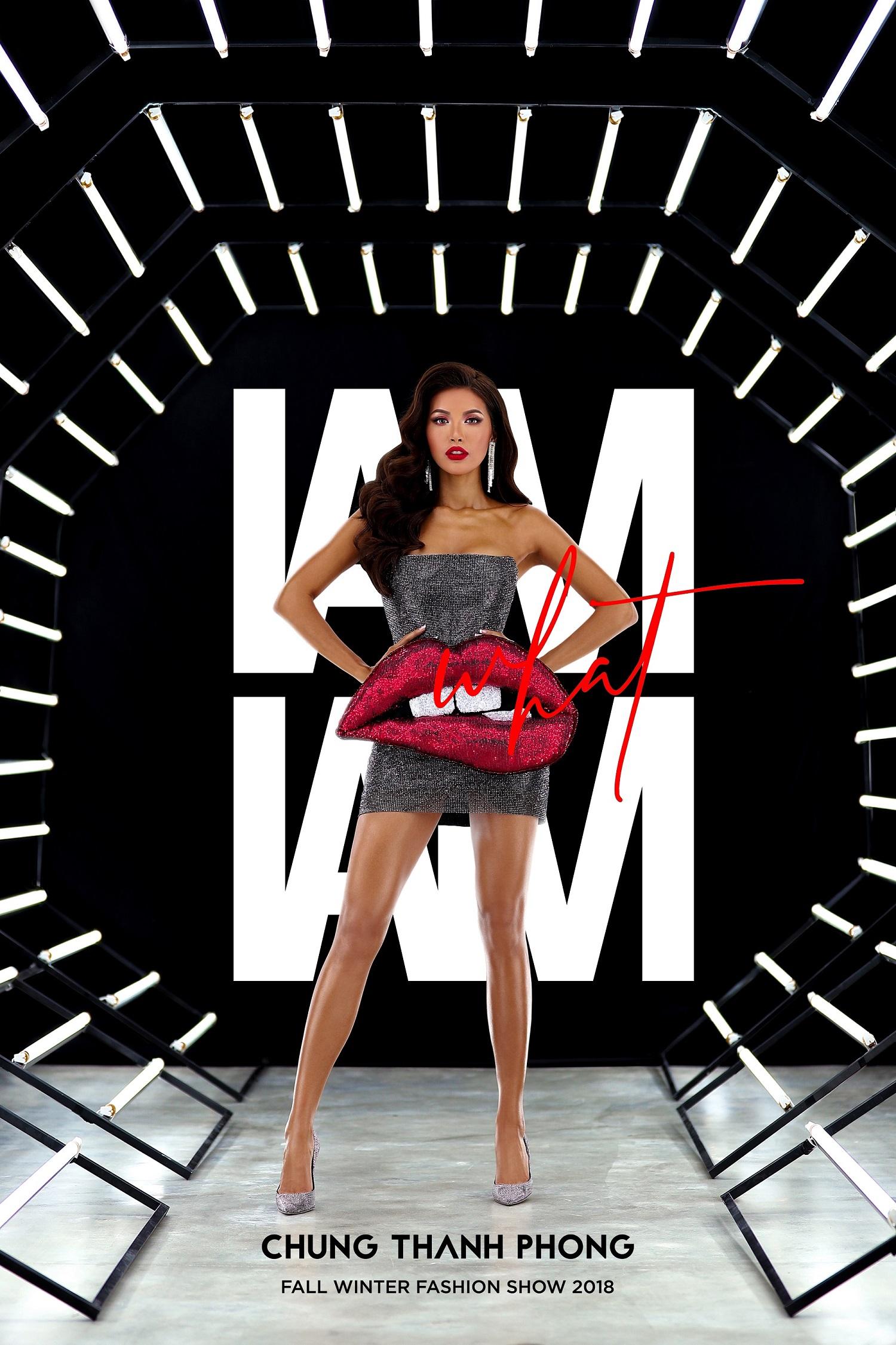 """Siêu mẫu Minh Tú tiếp tục đảm nhiệm vai trò """"nữ chính"""" trên poster quảng bá cho show diễn sắp tới của NTK Chung Thanh Phong."""