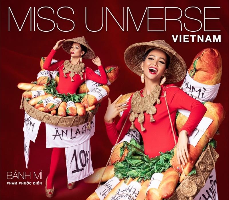 """So với thiết kế ban đầu, """"Bánh mì"""" đã được thay đổi khá nhiều để H'Hen Niê có thể tỏa sáng tại Miss Universe 2018."""