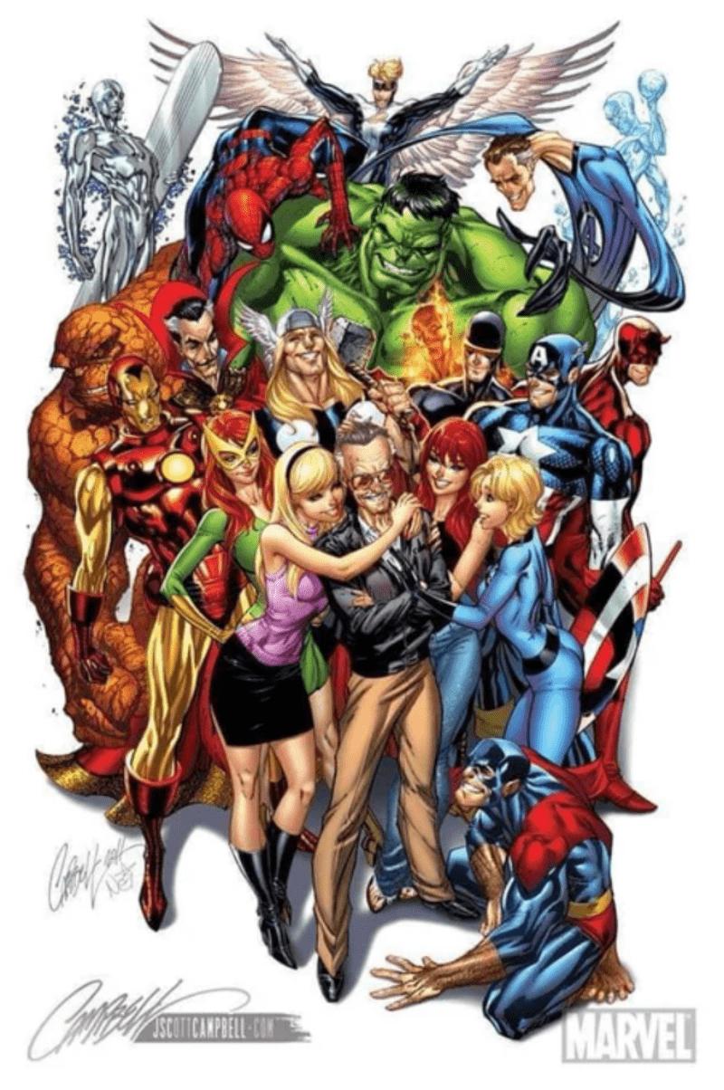 """Sự bất tử của """"người thường"""" Stan Lee được tạo nên bởi sức ảnh hưởng bất diệt những nhân vật siêu anh hùng kinh điển."""